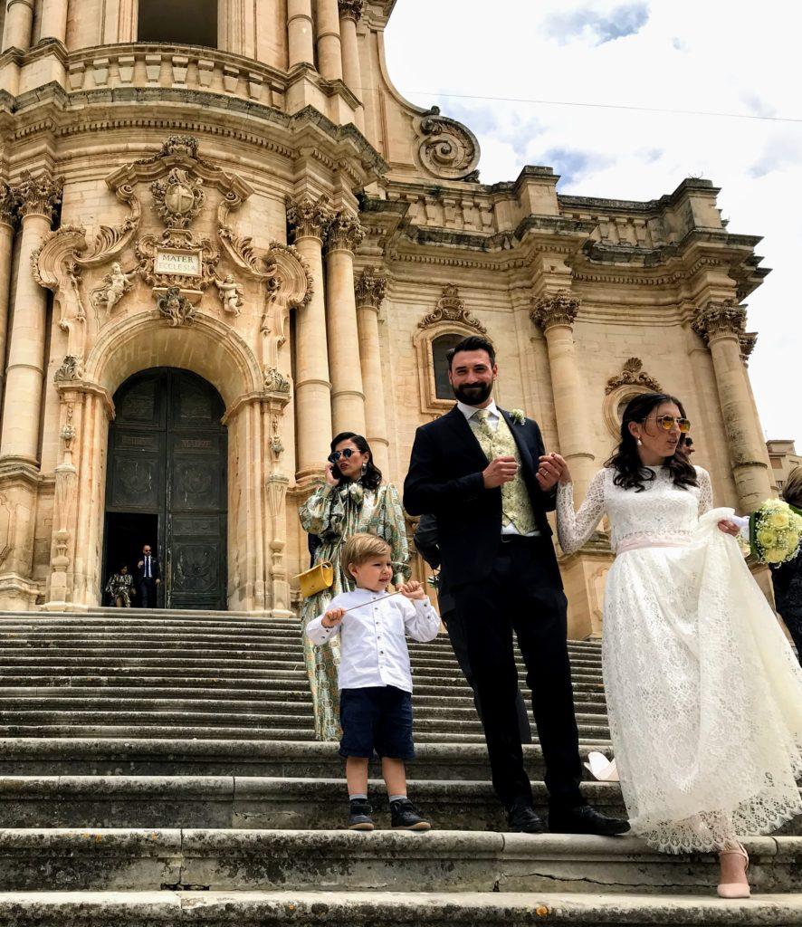 Wedding duomo di San Giorgio Modica