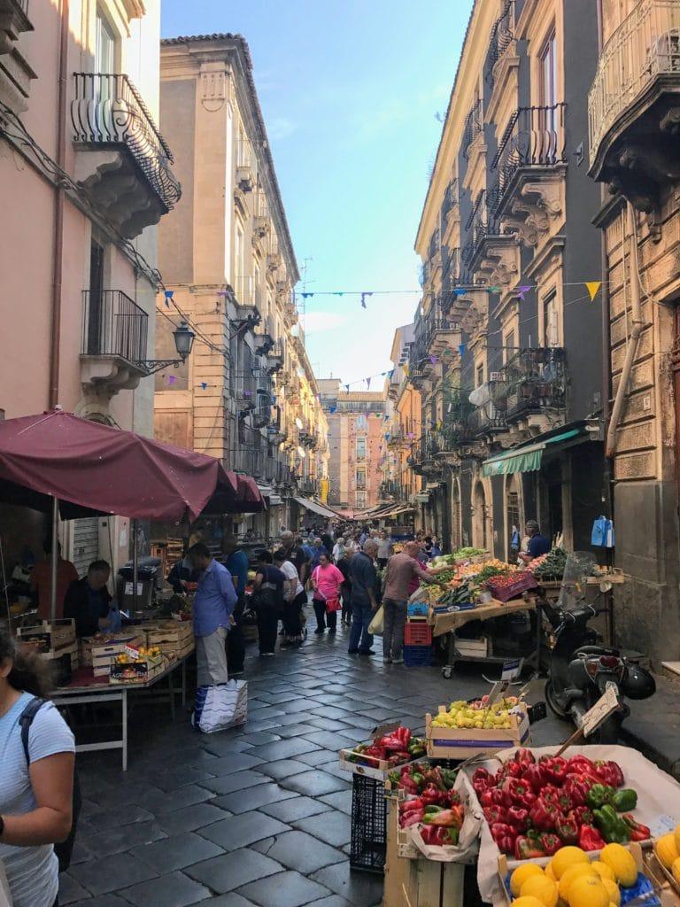 Catanias food market