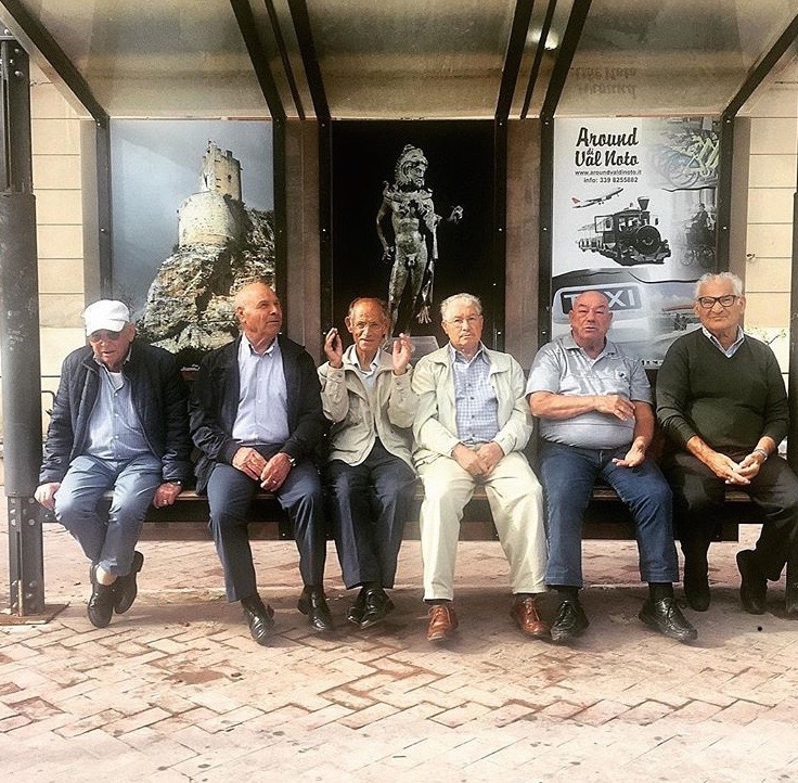 Elderly men in Modica