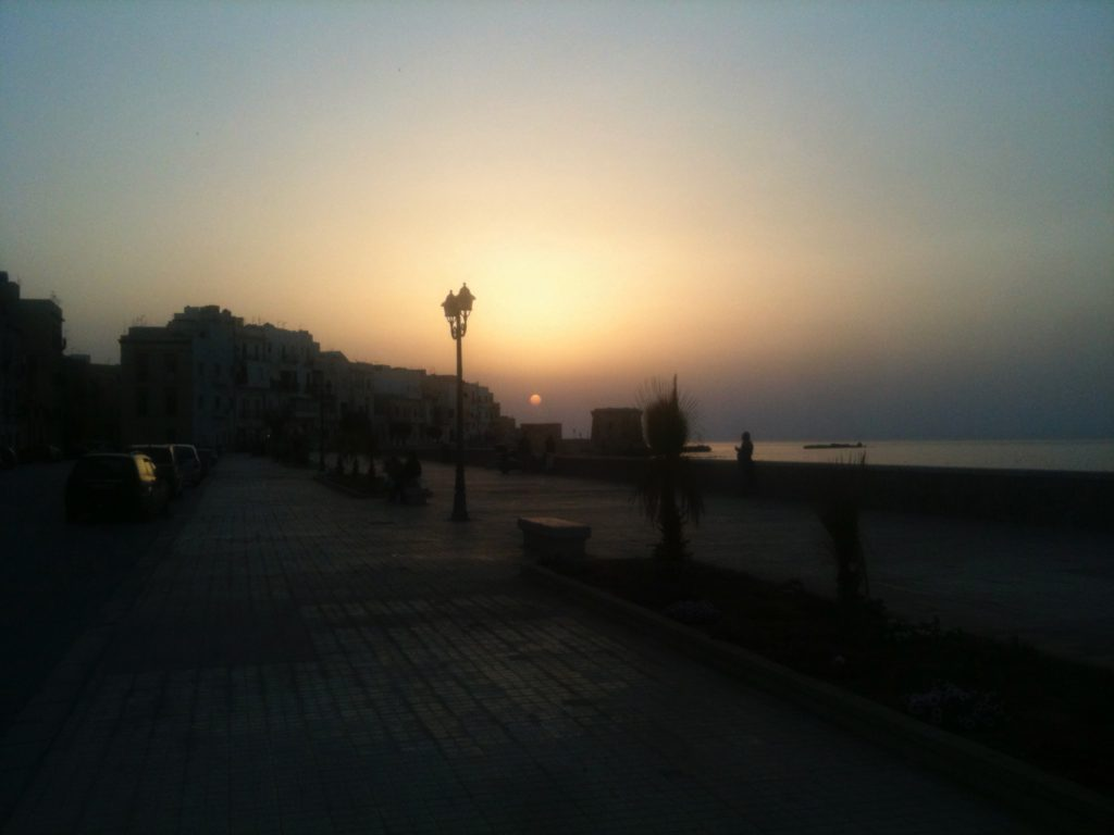 Trapani is located on the west side of Sicliy, which means you'll see beautiful sunsets.