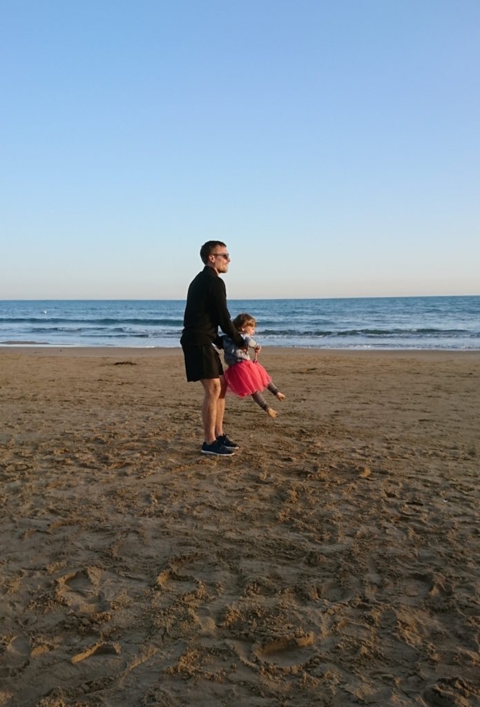 Sunset at the beach in Marina di Modica