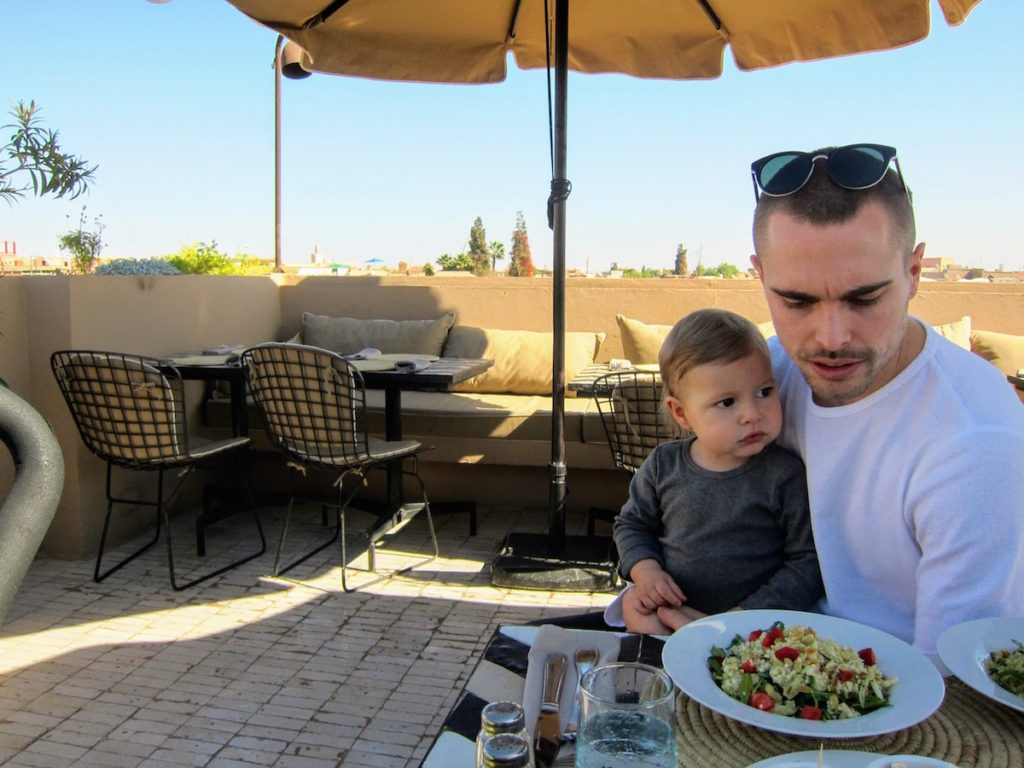 Restaurant Nomad with view over Marrakech's medina and the Atlas mountains