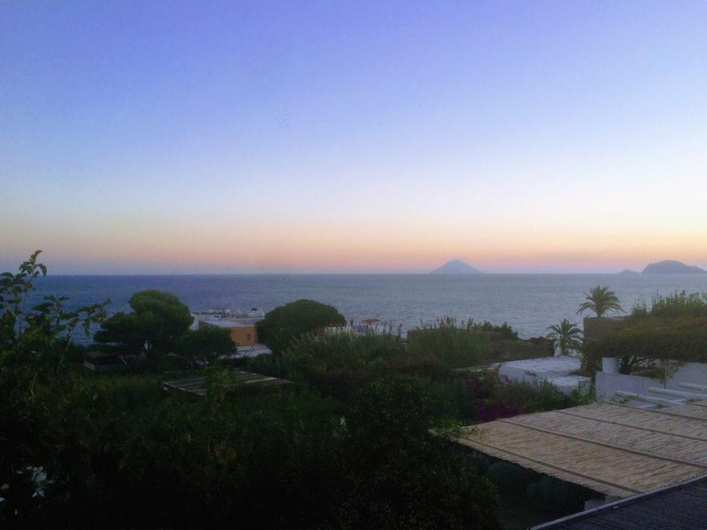 Sunrise in Malfa, Saline towards Stromboli
