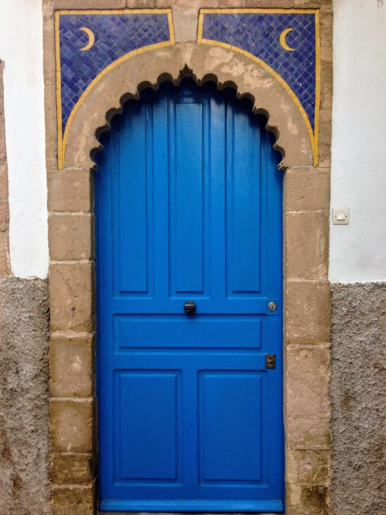 Blue door in Essaouria