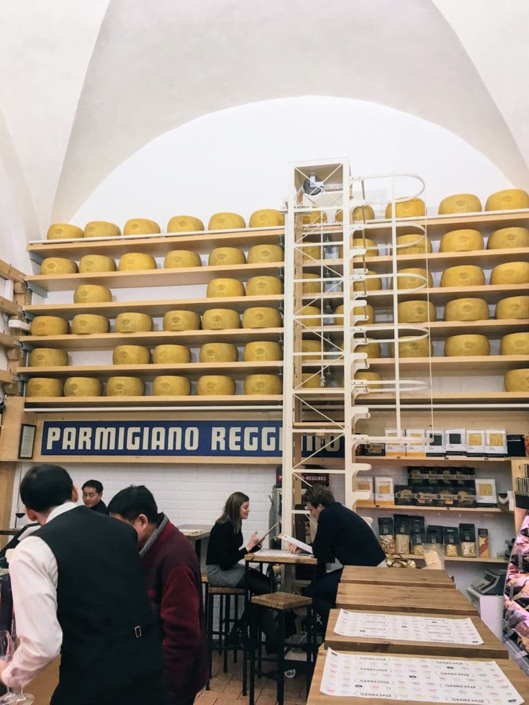 wall decorated with Parmigano