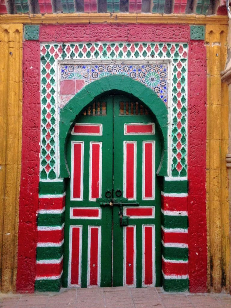Colored door in Essaouira