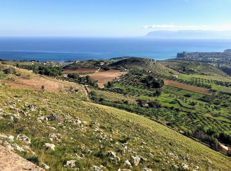 View of valleys around Castellammare del Golfo
