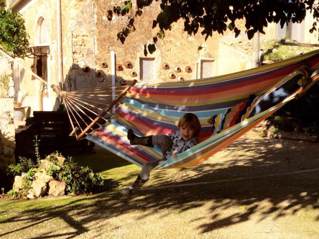Hammock in olive farm in Comiso Sicily