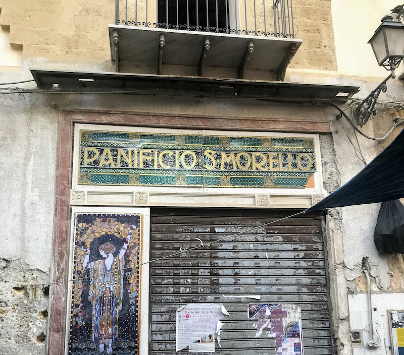 Beautiful old sign in Palermo