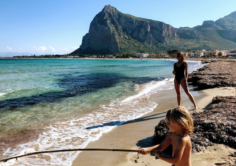 San Vito Lo Capo beach in November