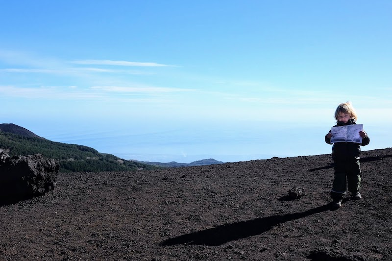 Mount Etna Volcano route navigation