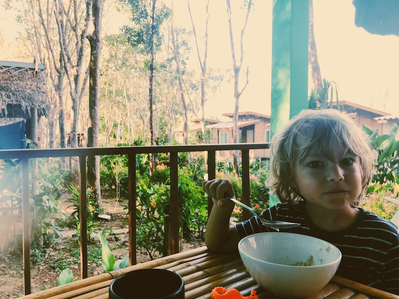 Breakfast in the jungle on Koh Lanta