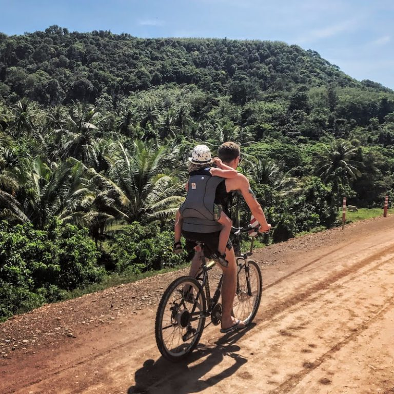 Riding bike in Koh Lanta