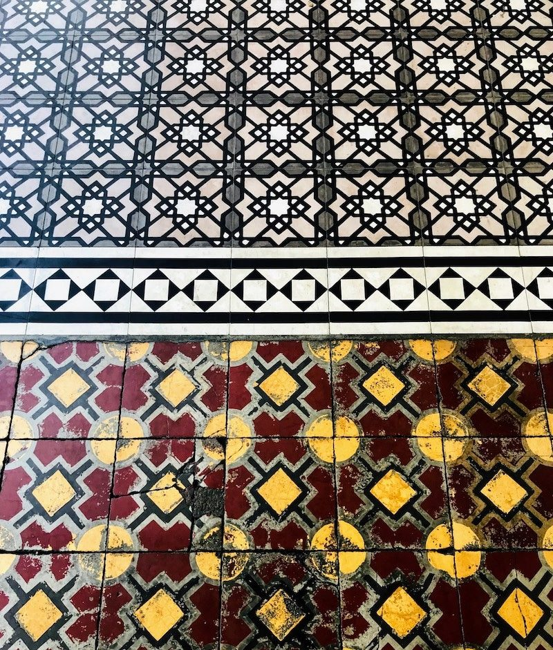 Floor tiles in George Town Penang