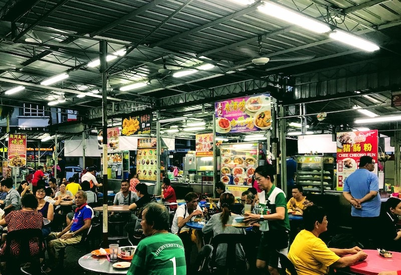 Outdoor foodcourt in Penang