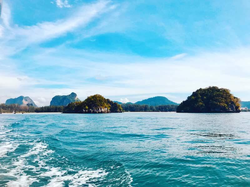 Islands off the coast of Ao Nang in the Andaman Sea