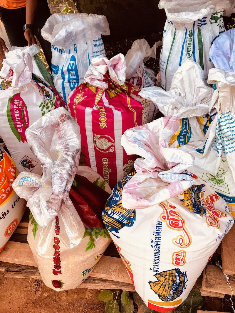 ricebags at the market