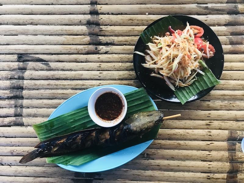 Green papaya salad Koh Samui