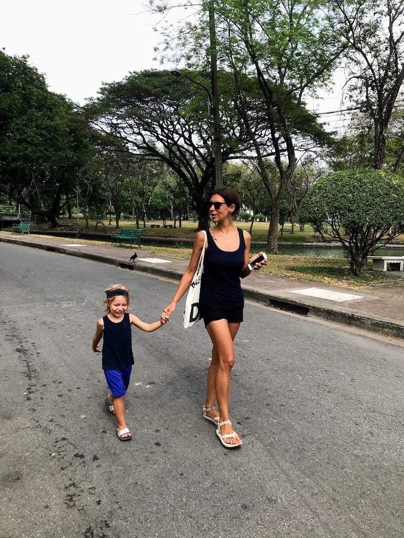 Walking Lumphini Park Bangkok