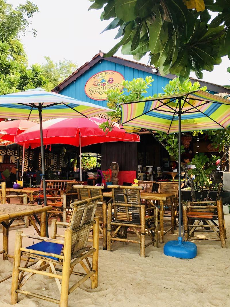 Treehouse restaurant silent beach Koh Samui