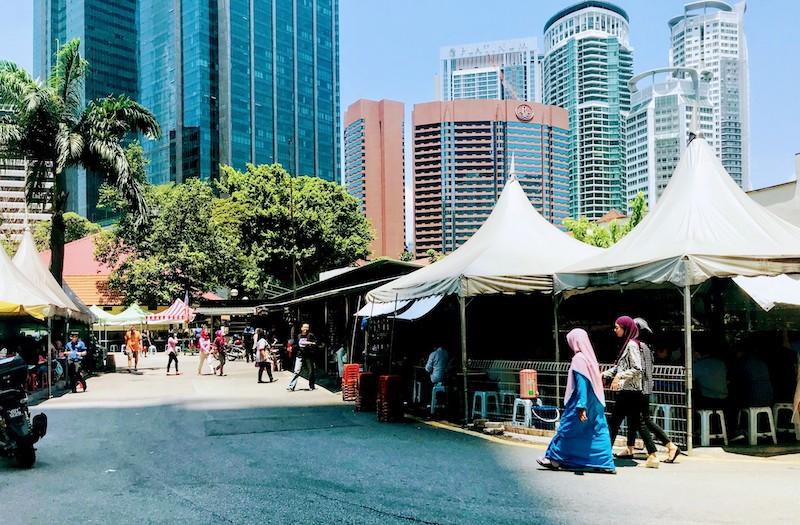 Street food stalls in Kuala Lumpur